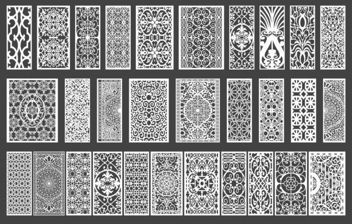 Lasercut Ornament Set 3 Free CDR Vectors Art