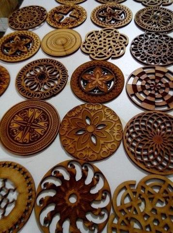 Mandala Coasters For Laser Cutting Free CDR Vectors Art