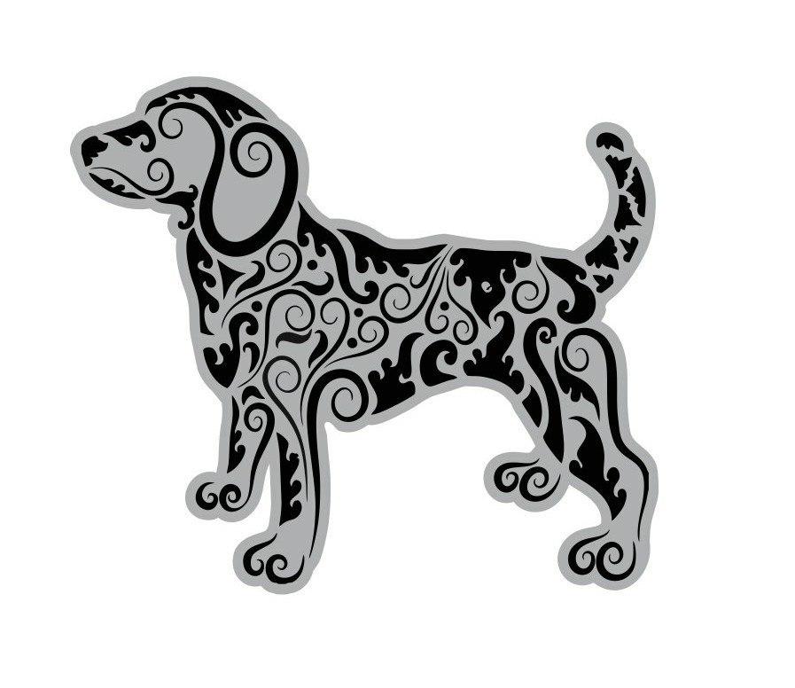 Mandala Style Dog For Laser Cut Free CDR Vectors Art