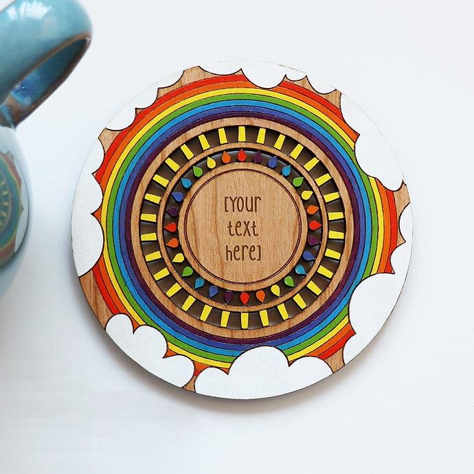 Ornament Decorative Wooden Coaster Laser Cut Free CDR Vectors Art