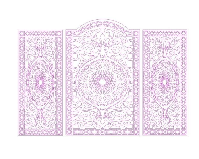 Laser Cut Ornament Pattern Panel Free DXF File