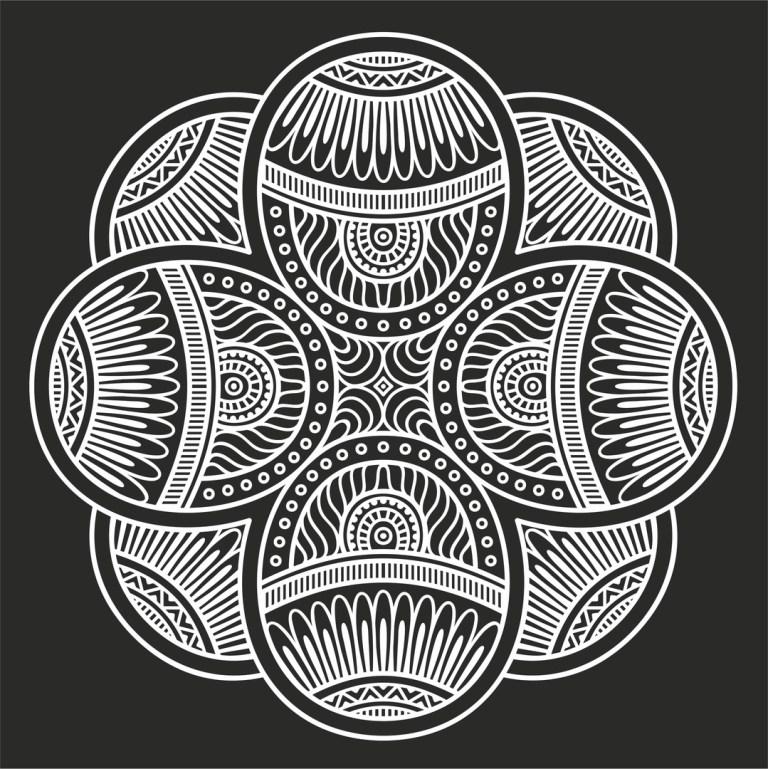 Mandala Free DXF File