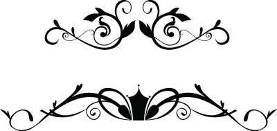 Laser Cut Floral Ornaments EPS Vector