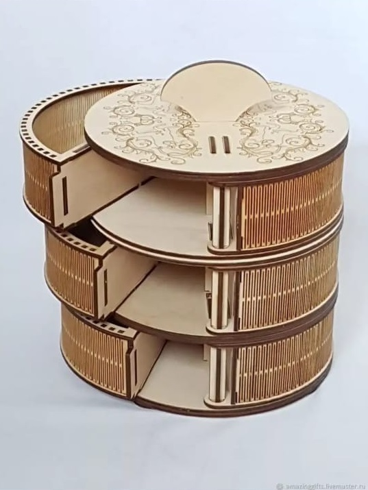 Circle Box For Laser Cutting Free CDR Vectors Art