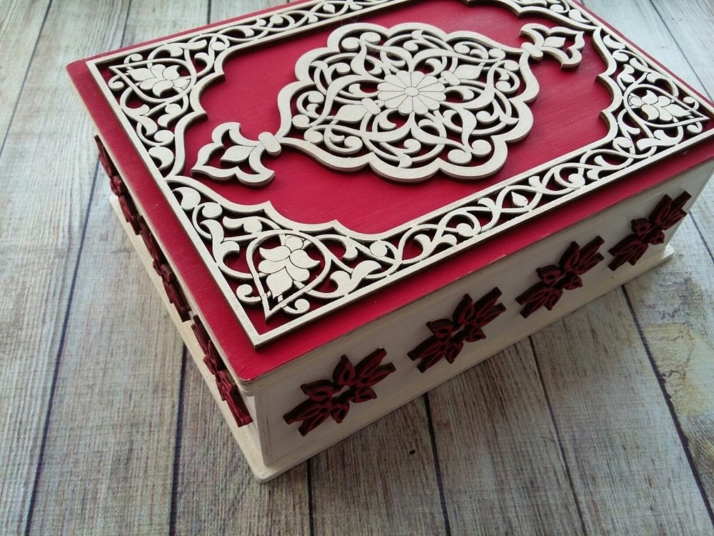 Plywood Decorative Gift Box For Laser Cutting Free CDR Vectors Art