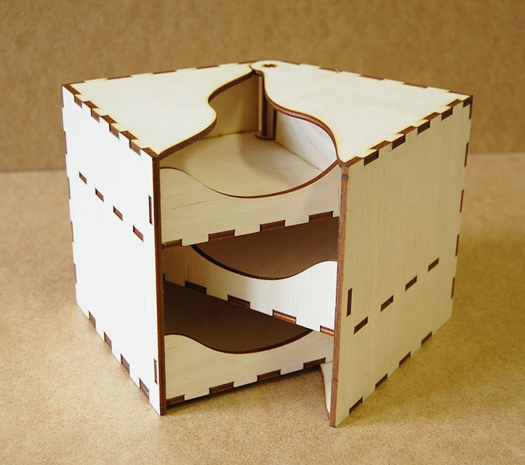Sliding Jewelry Box For Laser Cutting Free CDR Vectors Art