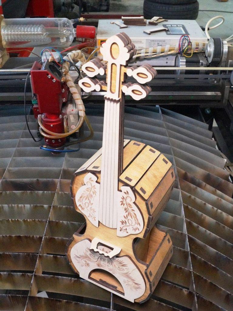 Violin Box For Laser Cutting Free CDR Vectors Art