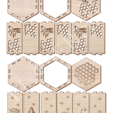 Boxes For Honey Layout For Laser Cut Free CDR Vectors Art