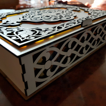 Carved Box Layout For Laser Cut Free CDR Vectors Art