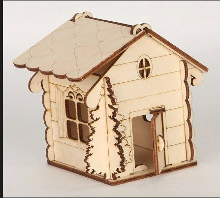House Shaped Box With Tree For Laser Cut Free CDR Vectors Art