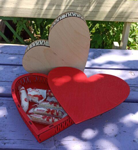 Heart Shaped Love Box For Laser Cut Free CDR Vectors Art