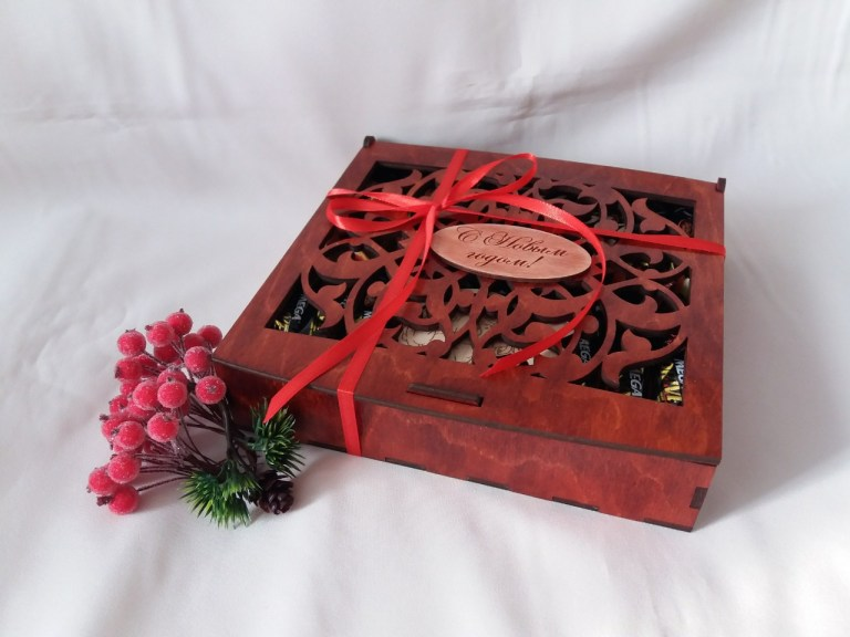 New Year Gift Box 6 Patterns For Laser Cut Free CDR Vectors Art