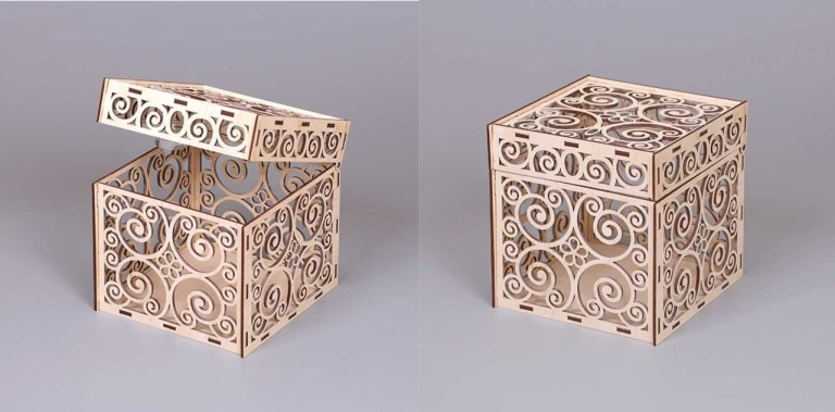 Patterned Box Monogram Layouts For Laser Cut Free CDR Vectors Art