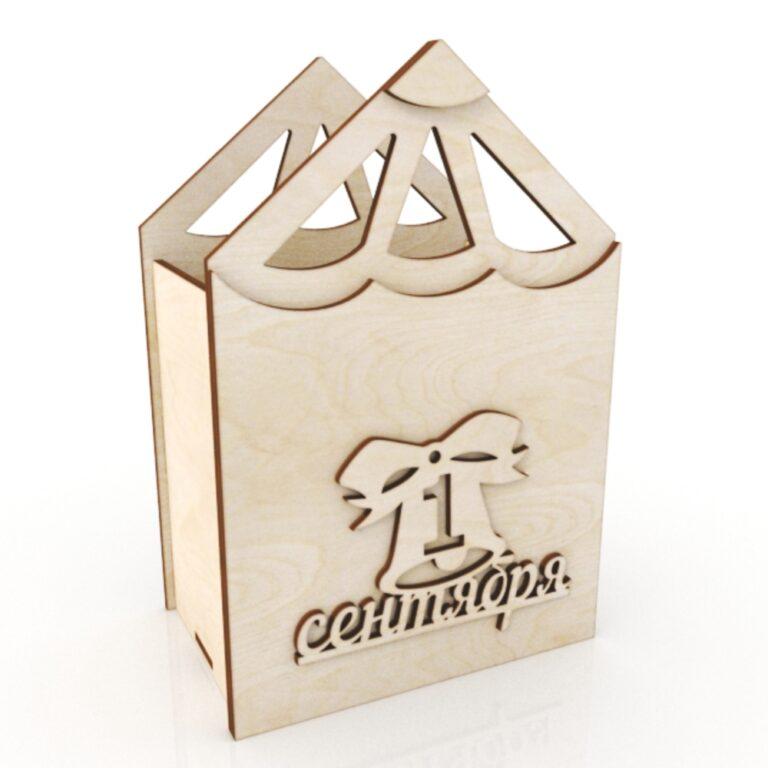 Pencil Shaped Wooden Cachepot Flower Box Pencil Pot For Laser Cut Free CDR Vectors Art