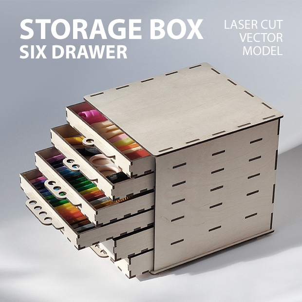 Small Items Box 3mm Layout For Laser Cut Free CDR Vectors Art