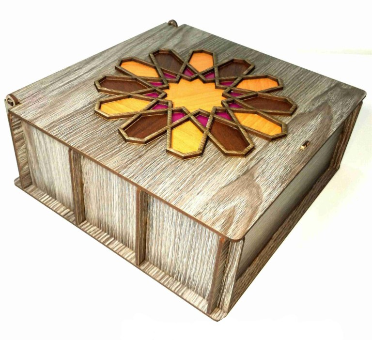 Tea Box Casket Layout For Laser Cut Free CDR Vectors Art
