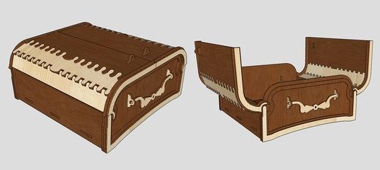 Wooden Box For Laser Cut Free CDR Vectors Art