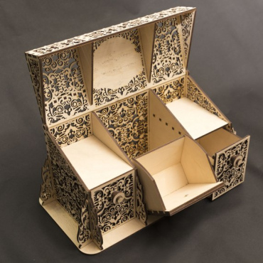 Openwork Perfume Box Layout For Laser Cut Free DXF File