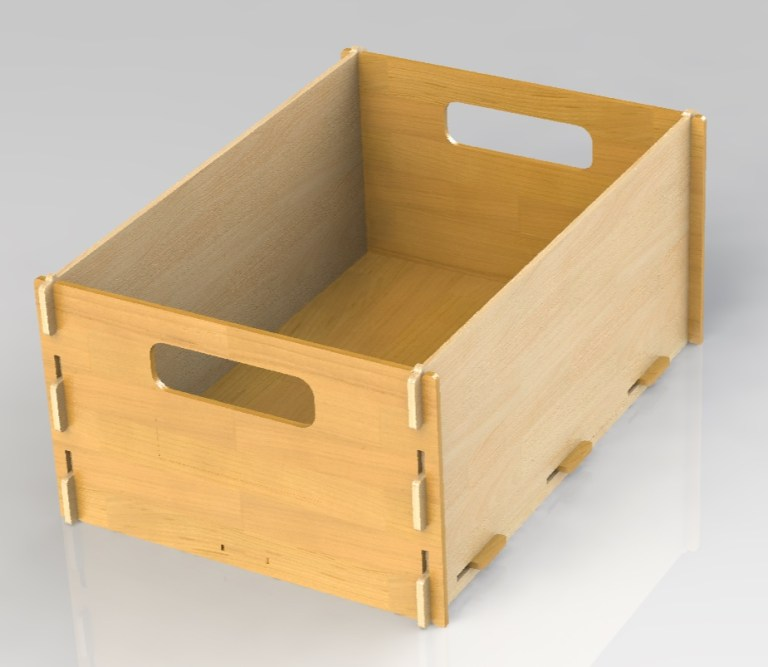Stackable Box Material 4 Mm Tackable Box For Laser Cut Free DXF File