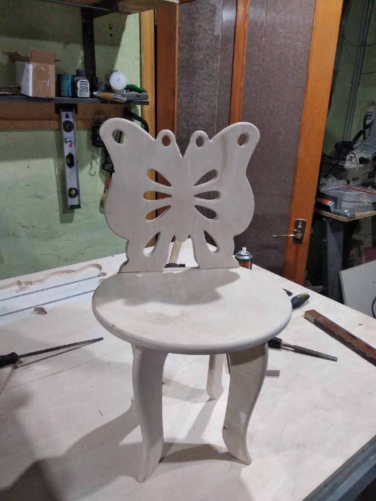 Baby Chair Butterfly Welt Back For Laser Cutting Free DXF File