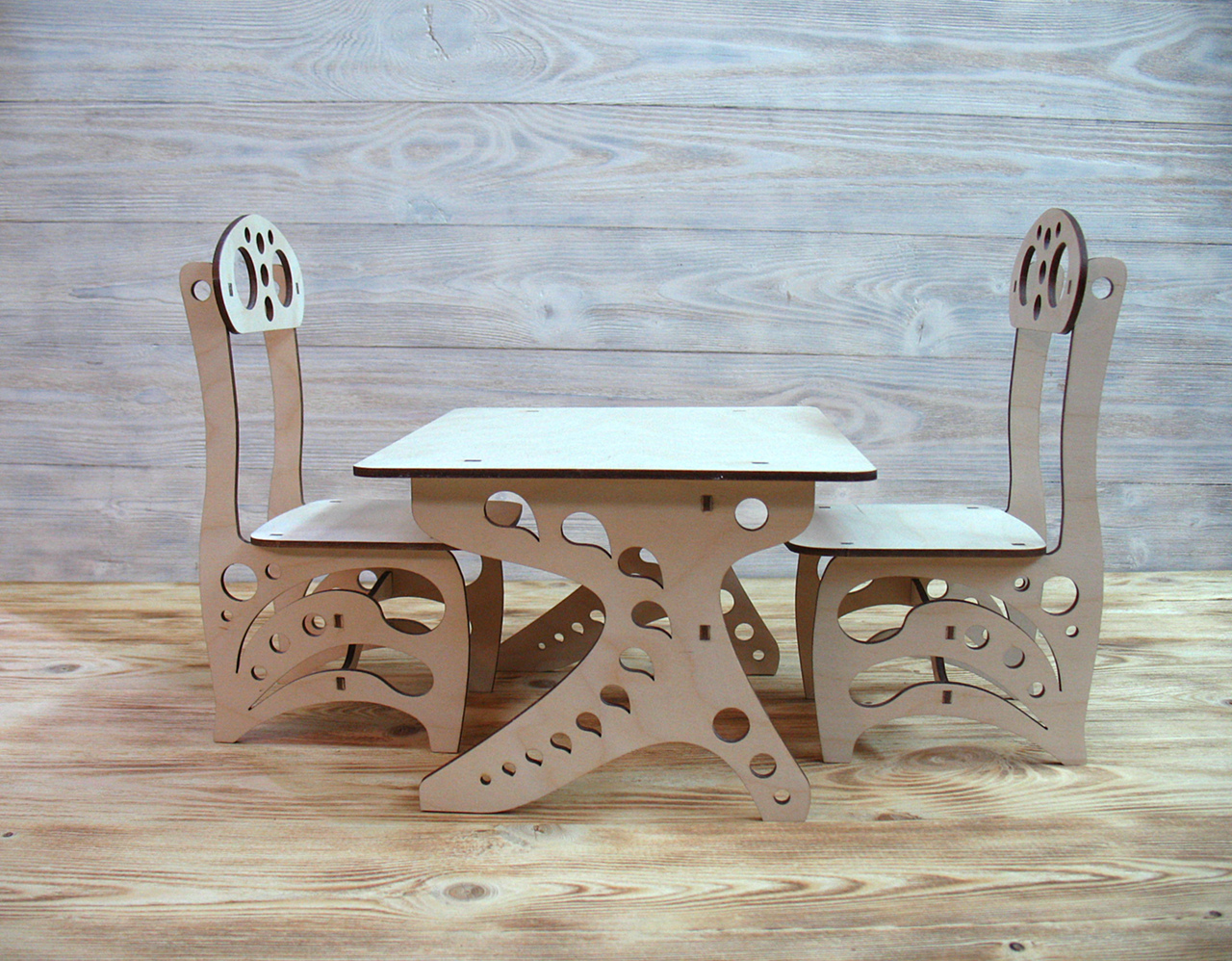 Childrens Chair Table Laser Cut Free CDR Vectors Art
