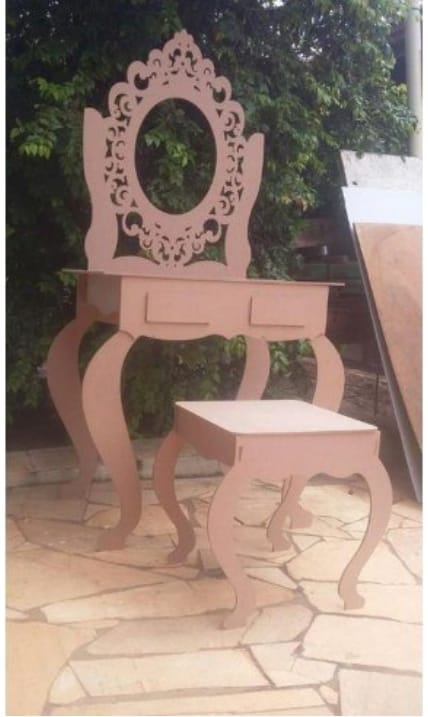 Dressing Table For Laser Cut Free CDR Vectors Art