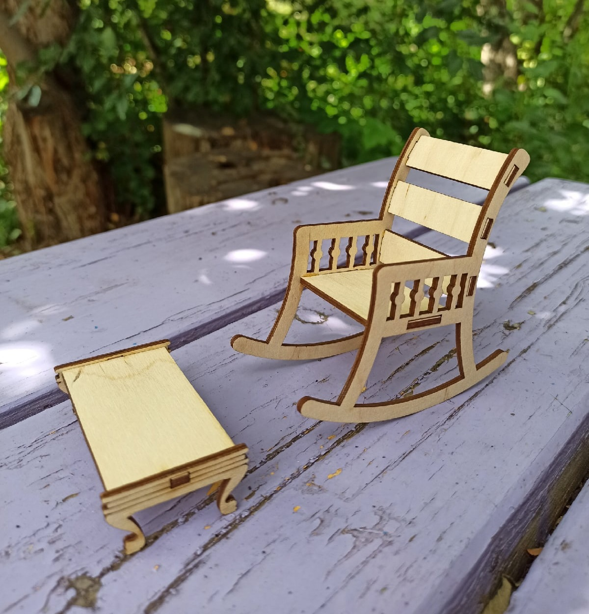 Doll House Wooden Furniture For Laser Cut Free DXF File