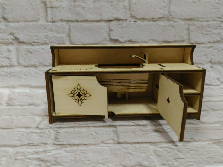 Furniture For Dollhouse Layout For Laser Cutting Free DXF File