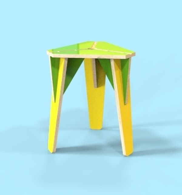 Layout Of Stool Drawing For Laser Cutting Free CDR Vectors Art