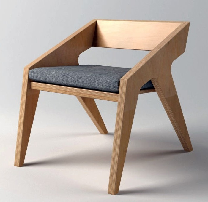 Laser Cut Wooden Dining Chair Free DXF File
