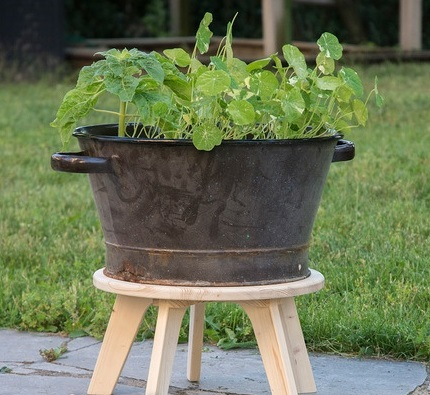Plant Stool For Laser Cutting Free DXF File