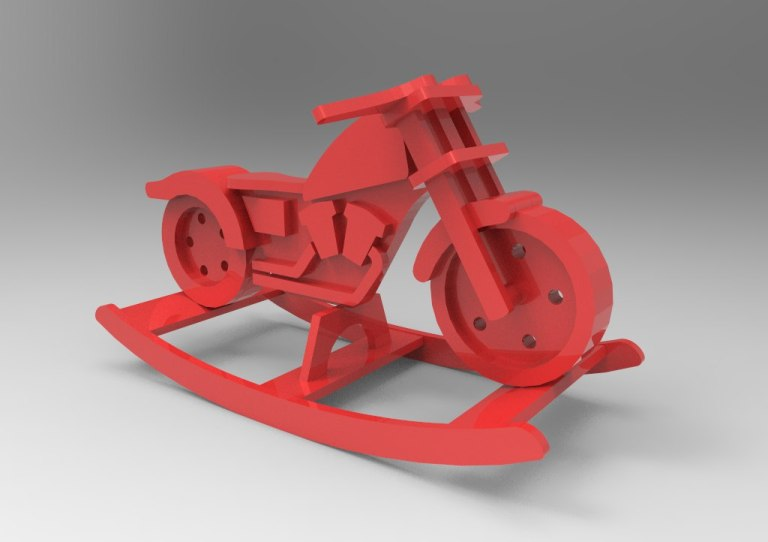 Rocking Chair Motorbike Cdr Drawing For Laser Cut Free CDR Vectors Art