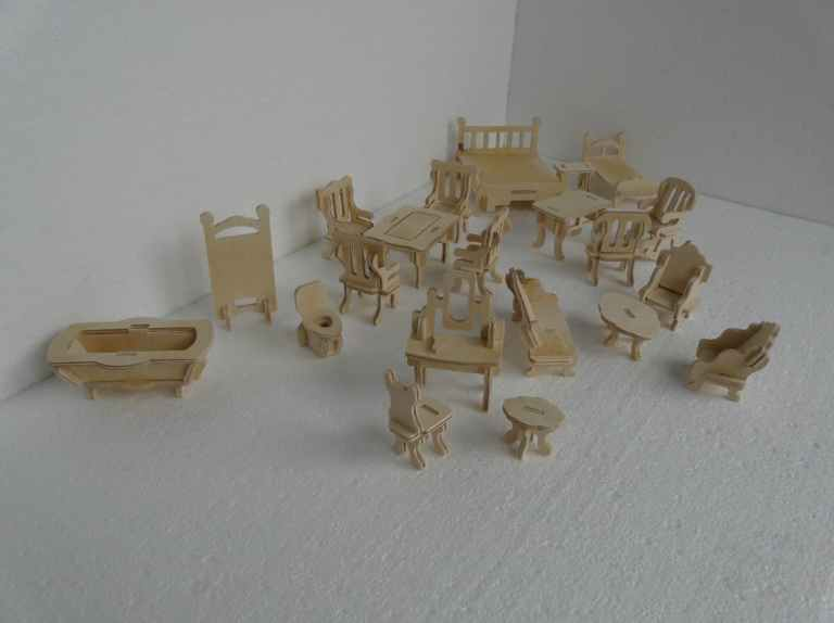 Small Furniture Set For Laser Cutting Free CDR Vectors Art