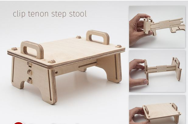 Tenon Step Clamp Chair Drawing For Laser Cutting Free DXF File