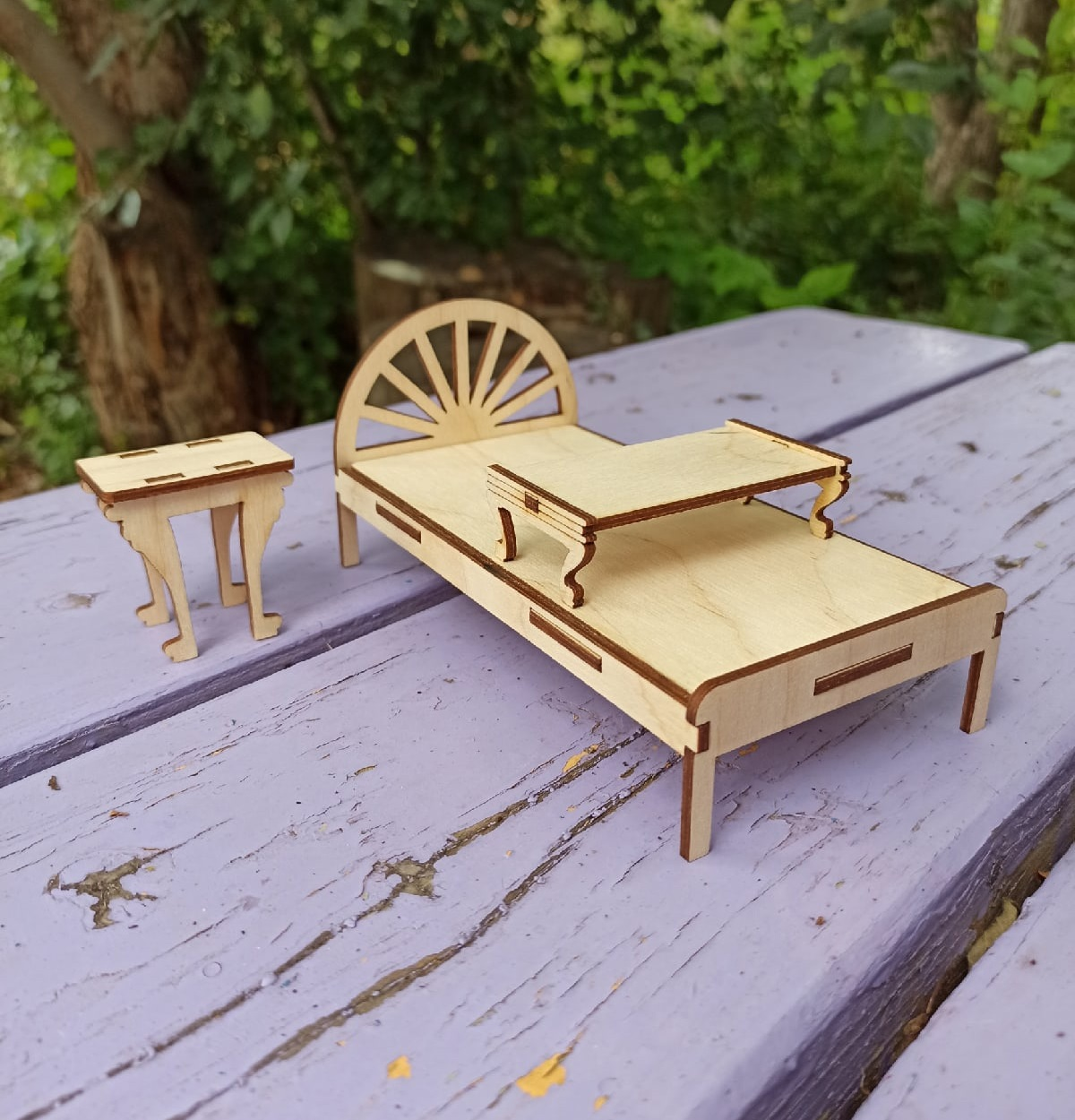 Wooden Doll House Furniture For Laser Cut Free DXF File
