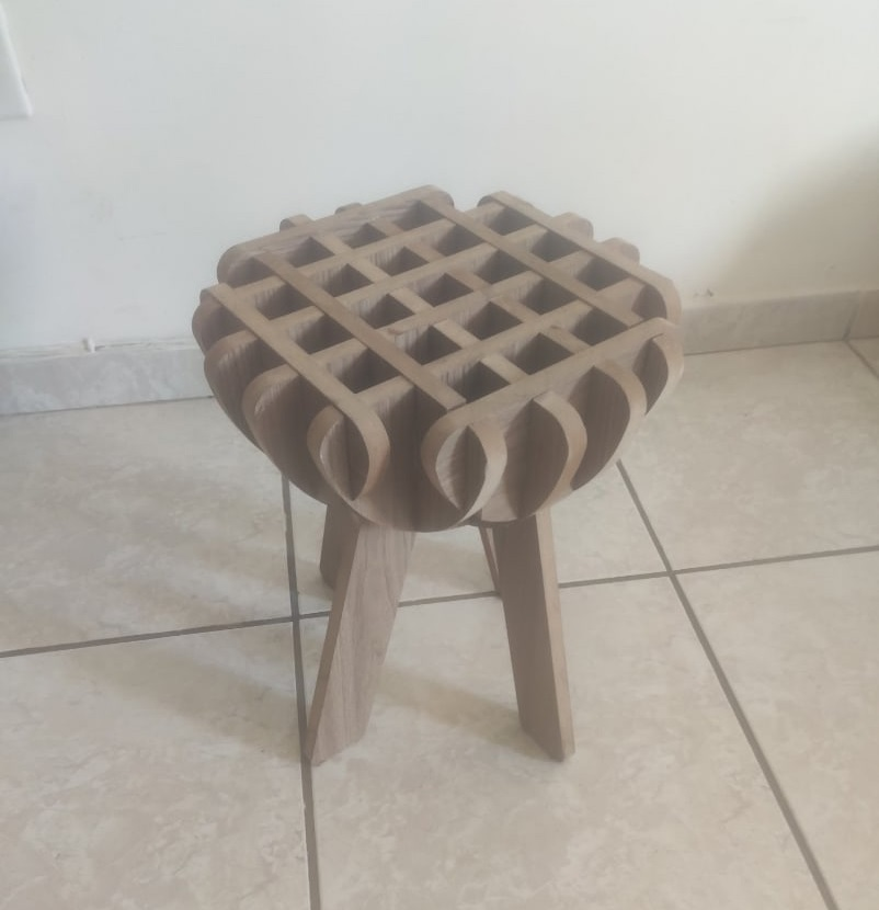 Wooden Stool For Laser Cutting Free DXF File
