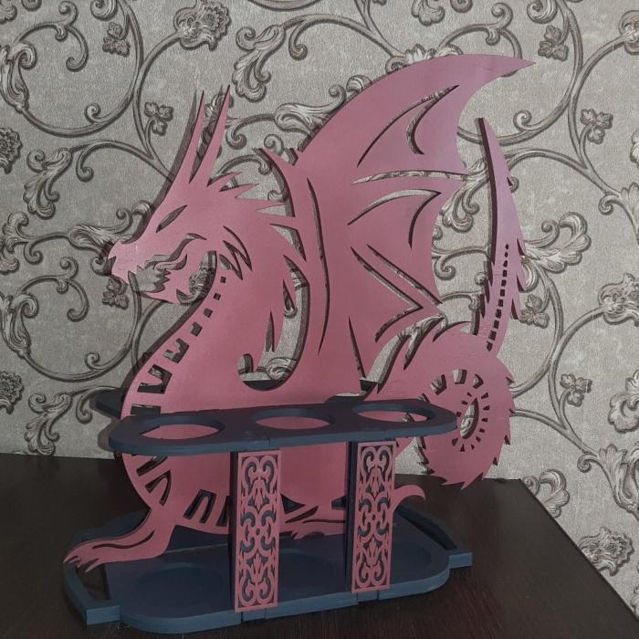 Dragon Drink Holder For Laser Cutting Free CDR Vectors Art