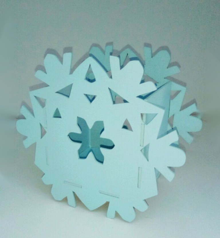 Pencil Holder Snowflake Drawing For Laser Cutting Free CDR Vectors Art