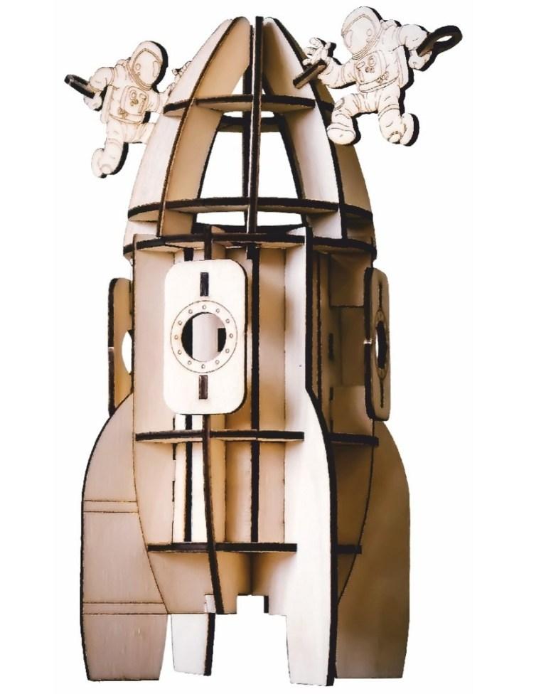 Rocket Model Beer Holder For Laser Cut Free CDR Vectors Art