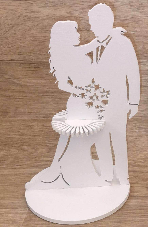 Wedding Napkin Holder For Laser Cutting Free CDR Vectors Art