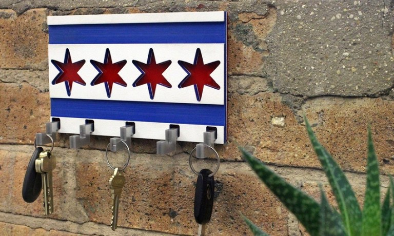 Chicago Flag Housekeeper Drawing Format For Laser Cut Free CDR Vectors Art