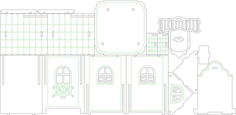 Tea House Layout 2 For Laser Cut Free CDR Vectors Art