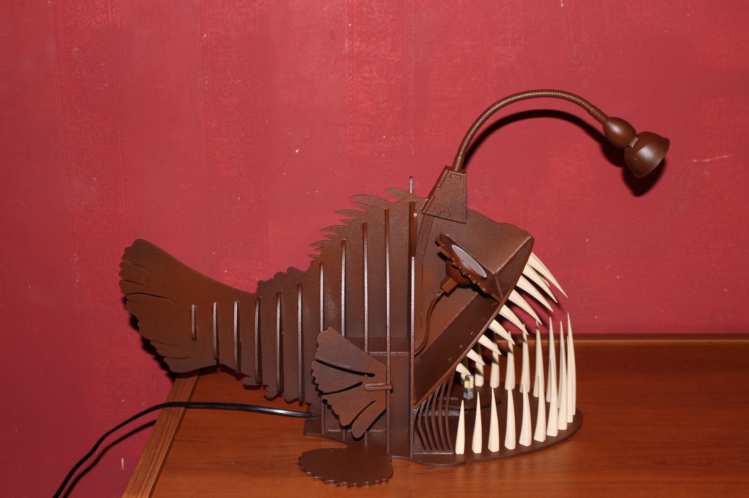 Tooth Toothed Fish Lamp For Laser Cut Free CDR Vectors Art