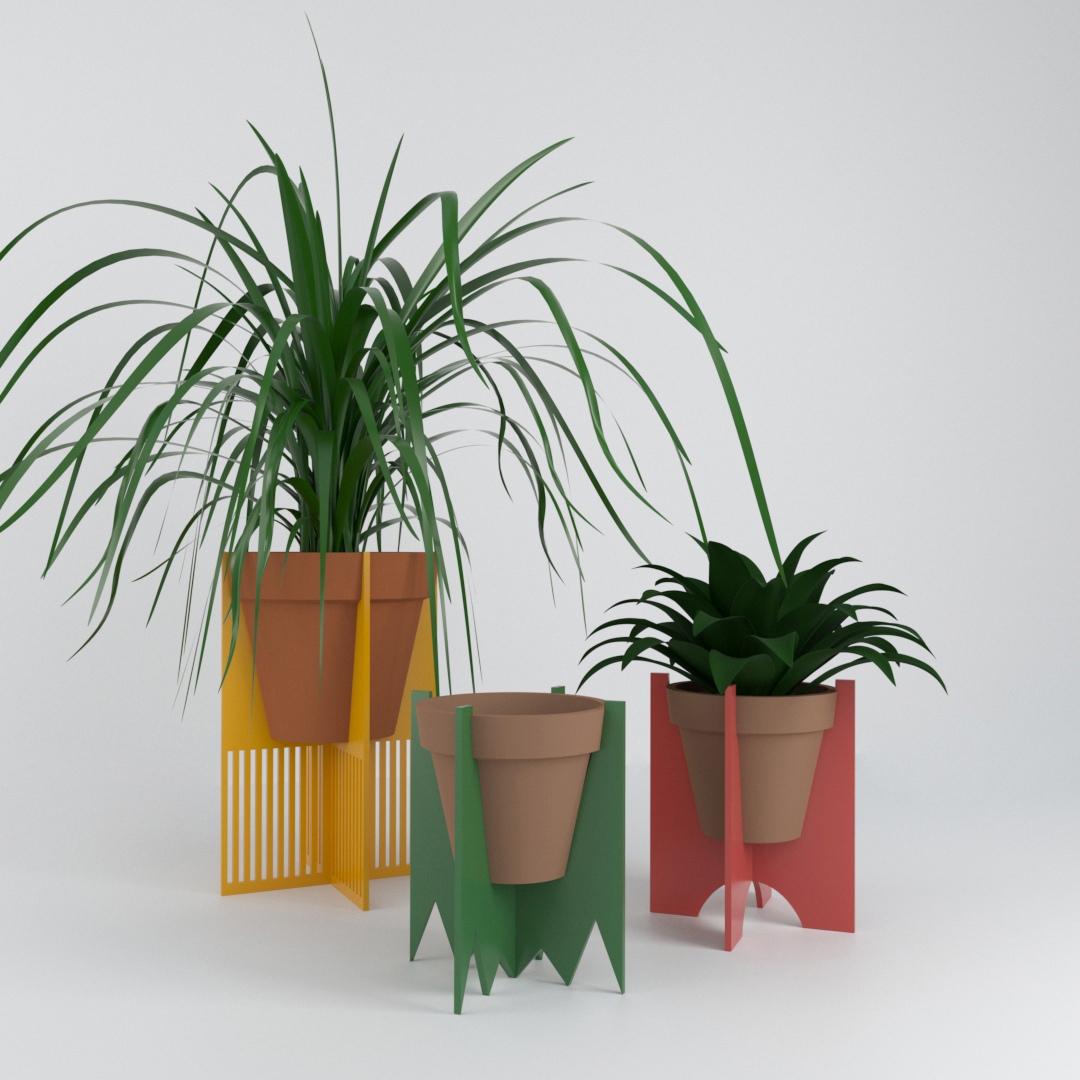 Laser Cut Decorative Plant Stands Free CDR Vectors Art