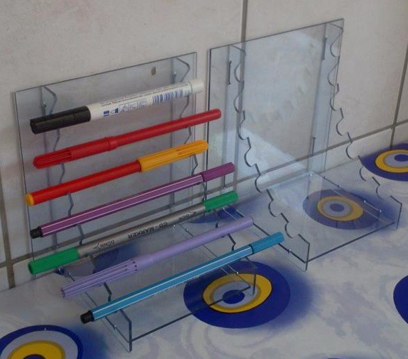Laser Cut Pen Stands 3d Puzzle Free CDR Vectors Art