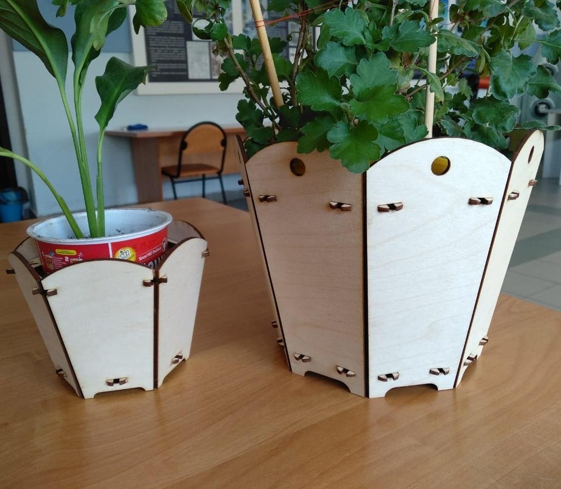 Laser Cut Plant Stand Home Decor 3mm Free CDR Vectors Art