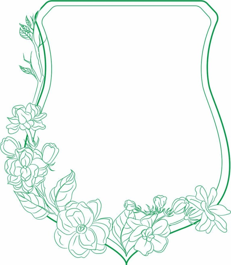 Gorgeous Frame With Flowers Layout For Laser Cutting Free CDR Vectors Art