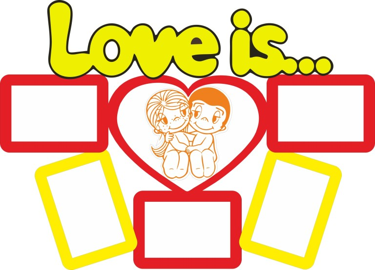 Love Is Photo Frame Layout For Laser Cut Free CDR Vectors Art