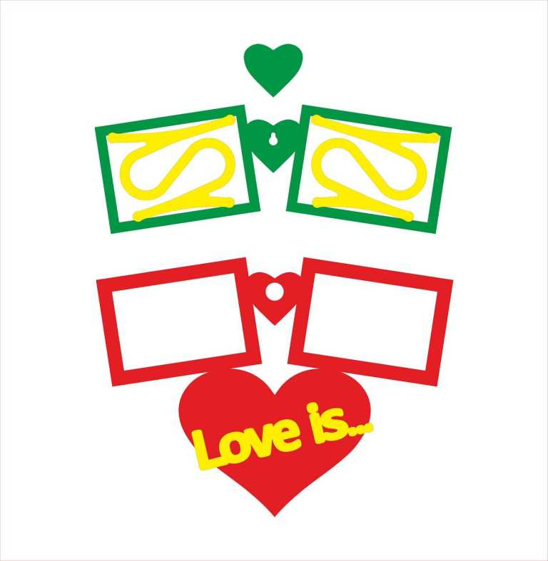 Photo Frame Love Is Pay Attention To The Shape Of The Back Fixer For Laser Cut Free CDR Vectors Art
