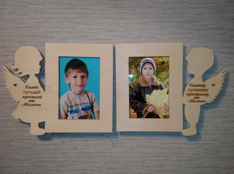 Photo Frames With Angels For Laser Cut Free CDR Vectors Art